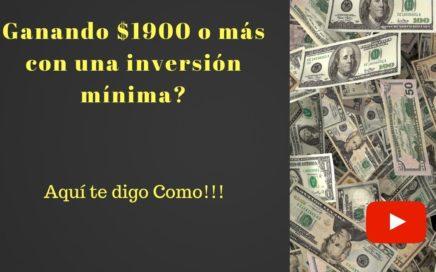 Aprende a Ganar Dinero Online Fácil con Minima Inversión!