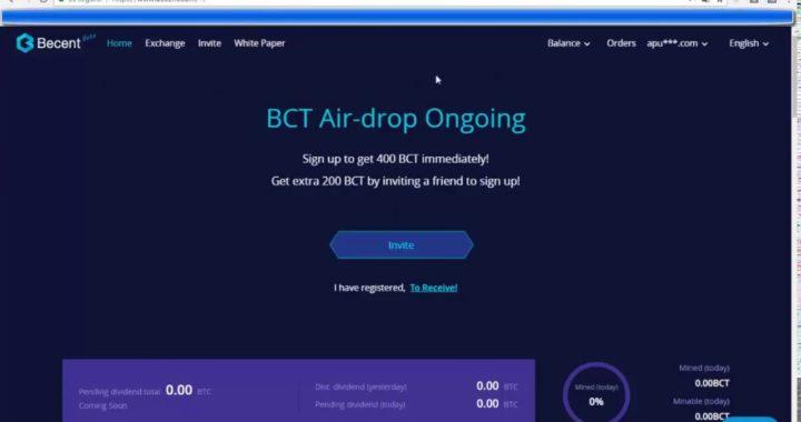 Becent AirDrop | Becent Exchange |Como Ganar Dinero En Internet Gratis Con Esta Web