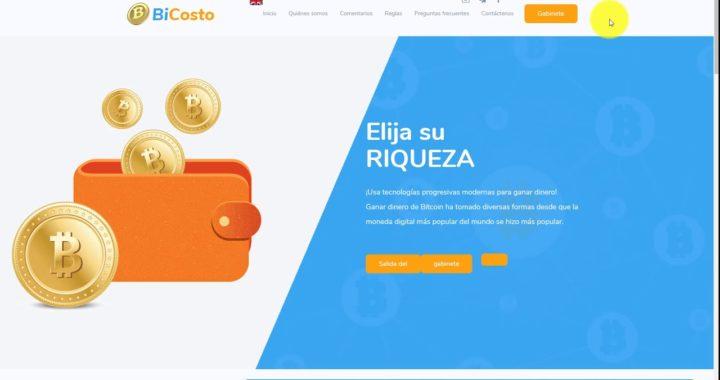 BICOSTO NUEVA PAGINA PAGANDO 115% EN 1 DIA - INVERSIÓN DE $100 DOLARES