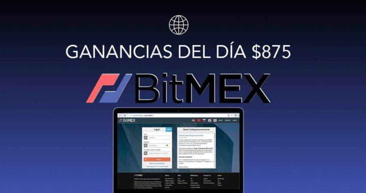 BitMEX - GANANCIAS DEL DÍA $875 USANDO MI ESTRATEGIA PERSONAL (Leverage/Apalancamiento) BITCOIN 2018