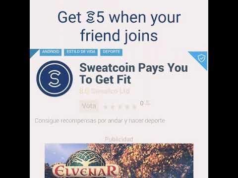 Camina con la Aplicación de Sweatcoin y Gana dinero..