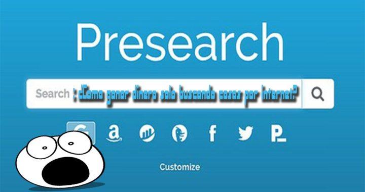 Como ganar dinero fácil | Presearch