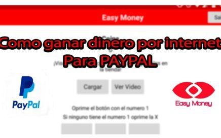 Como ganar dinero por internet fácil para PAYPAL  | Septiembre 2018