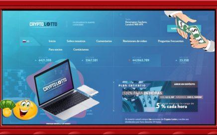 crypto-lotto.co pagina para ganar dinero rápido en 24 horas 120% en día