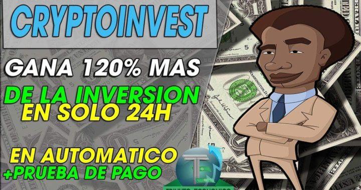 CRYPTOINVEST-COMPANY| (NUEVA) INVIERTE Y GANA 120% MAS EN 24HORAS | AUTOMATICO | + PRUEBA DE PAGO