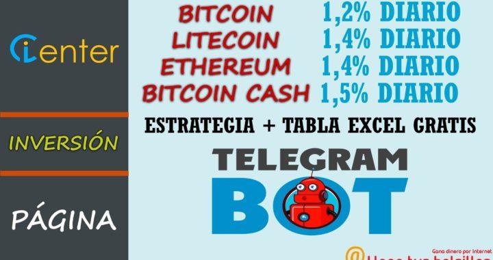 El mejor bot Telegram ICENTER | La mejor inversión para Bitcoin - Litecoin - Ethereum - Bitcoin Cash