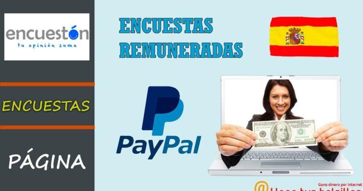 Encuestas remuneradas para España Paypal | Como funciona Encueston