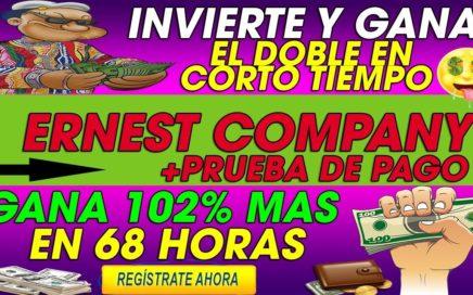 Ernest Company| Invierte y Gana 102% Mas en 68 horas | DOBLA TUS RUBLOS + [Prueba de pago]