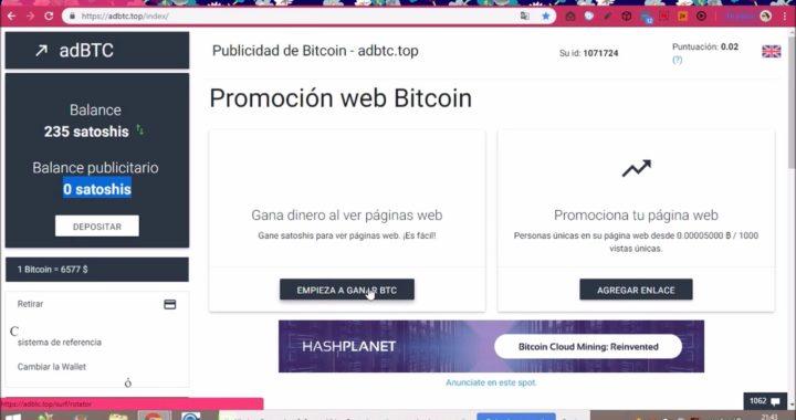 Gana Bitcoin Facil en adBTC REGISTRATE YA!!!!!
