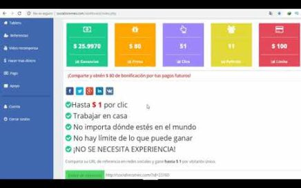 Gana dinero con Make Money Online easily with socialincomes.com