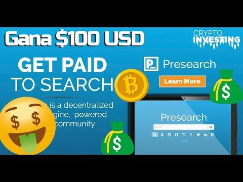 Gana dinero en internet con Presearch