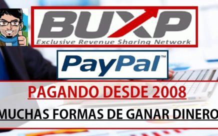 Gana dinero para PayPal || BuxP, 8 años pagando!! || Muchas formas de ganar dinero