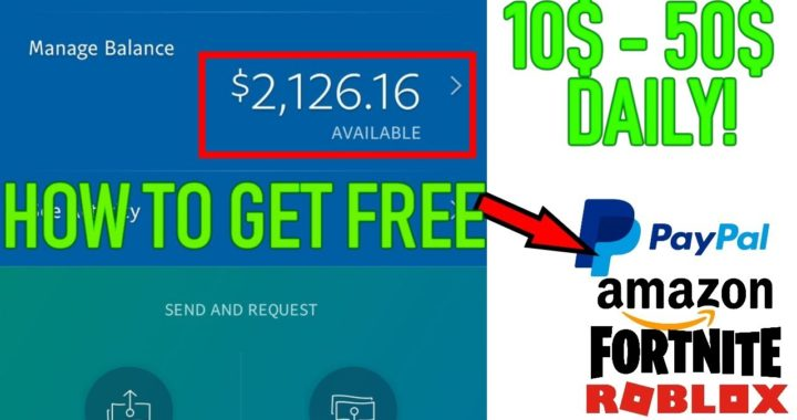 HOW TO GET FREE MONEY ON - PayPal, Amazon, ROBLOX, Fortnite & More