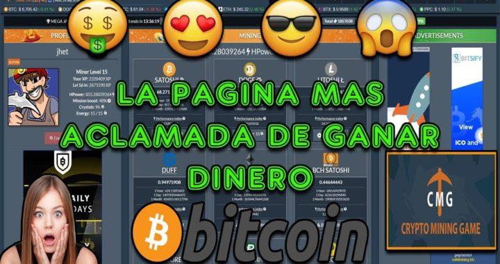La Pagina Mas Aclamada de Ganar Dinero en Bitcoins   Facil y Sin Invertir   Cryptomininggame