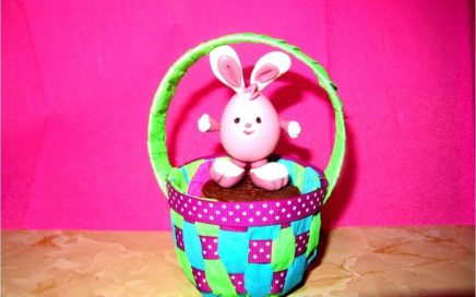 Manualidades  souvenir Canastita baby  huevos de Pascua