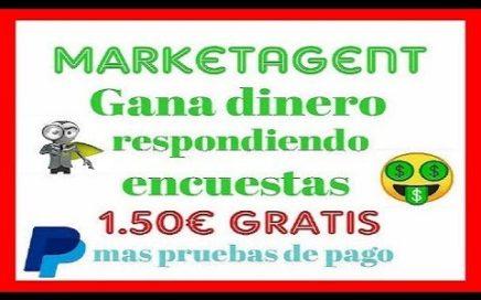 MARKETAGENT 1.50 EUROS GRATIS|Gana DINERO RESPONDIENDO ENCUESTAS FACIL 2018