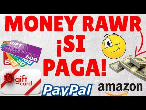 MONEY RAWR ¡SI PAGA! Por Paypal y Amazon (NUEVA APP PARA GANAR GIFT CARDS)