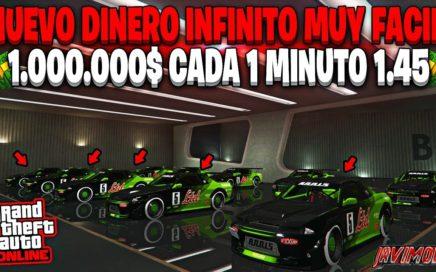 NUEVO! TRUCO DINERO INFINITO MUY FACIL *1.000.000$ CADA 1 MINUTO* GTA 5 ONLINE 1.45 (PS4/XBOX 1/PC)