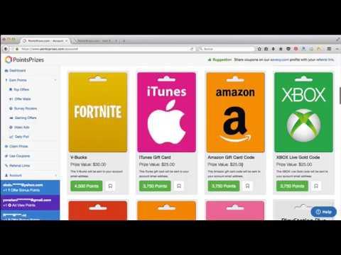pointsprizes dinero paypal, bitcoin, tarjeta playstation, amazon, itunes y más