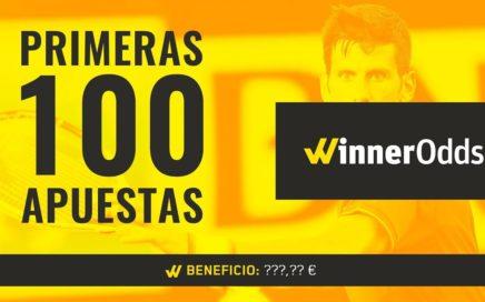 Primeras 100 APUESTAS con WINNERODDS | ¿Habré logrado GANAR DINERO?