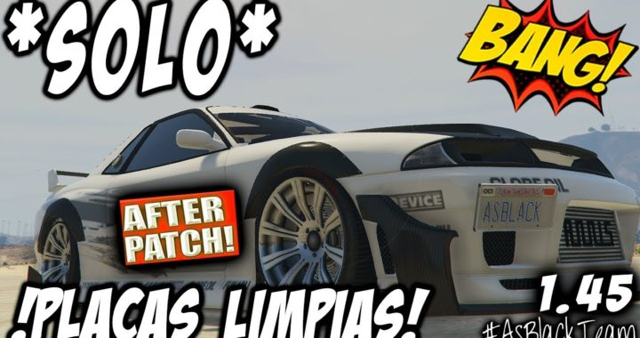 "*SOLO MONEY GLITCH* - ""AFTER PATCH"" - SIN AYUDA - GTA V - SUPER EASY - CLEAN PLATES - (PS4 - XB1)"