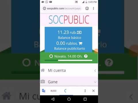 SP SOCPUBLIC Gana dinero en internet, sin inversión, Como cobrar en SocPublic, Prueba de Pago.