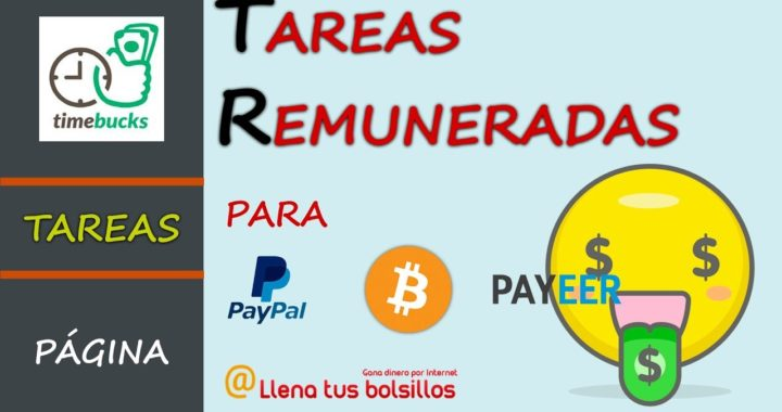 Tareas sencillas pagadas en Timebucks   Gana dinero para Paypal Payeer y Bitcoin