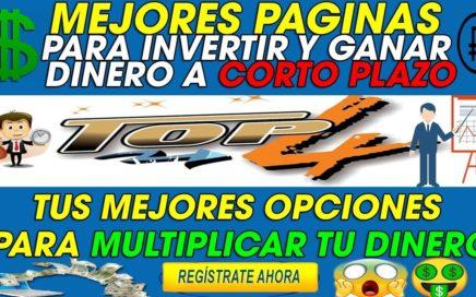 TOP 4 | MEJORES PAGINAS PARA MULTIPLICAR TU DINERO INVIRTIENDO + SORTEOS + PRUEBAS DE PAGO