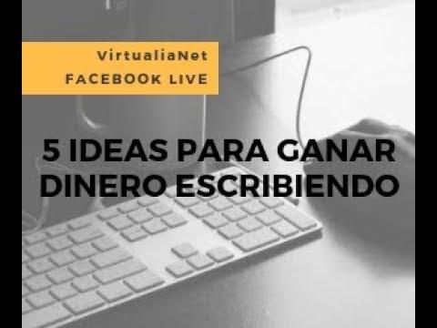 VirtualiaNet - Facebook Live: 5 ideas para ganar dinero escribiendo
