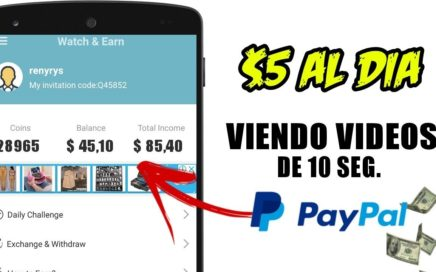 Watch & Earn | App | MIRA VIDEOS Y GANA DINERO RAPIDO | Ronny