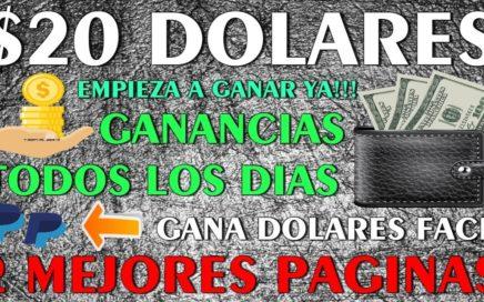 || $20.00 DOLARES || Las 2 Mejores Paginas, Gana Dolares a Paypal Facil y Rapido - Totalmente GRATIS
