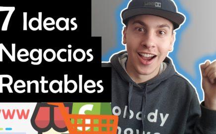 7 IDEAS DE NEGOCIOS RENTABLES POR INTERNET - Como Trabajar Desde Casa