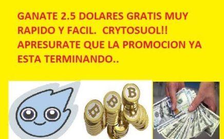 APRESURATE!! GANATE 2 5 DOLARES EN MONEDAS CRYPTOSOUL GRATIS  GANA DINERO EN INTERNET
