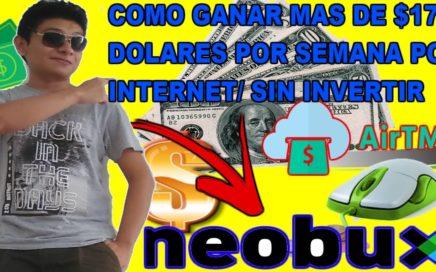 Cómo Ganar $17 Dolares Gratis Por Internet Semanal / La Mejor pagina Para Ganar Dinero online