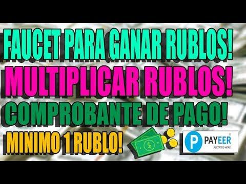 FAUCET RUBLOS! GANAR RUBLOS FACIL Y RAPIDO! COMPROBANTE DE PAGO