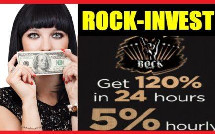 Gana Dinero en ROCK-INVEST 120% en 24 Horas 5% cada Hora - Pruebas de pago + Sorteos 200 Rublos