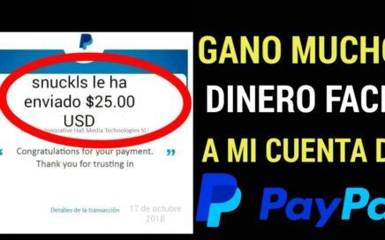 GANA DINERO FACIL A TU CUENTA DE PAYPAL/dinero rápido