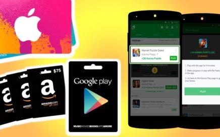 Gana dinero para paypal y consigue tarjetas de regalo de xbox, playstore, amazon y más! | Appkarma
