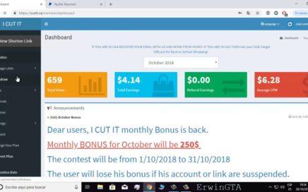 Ganar Dinero Por Internet Fácil para PayPal Acortando Enlaces! | ICUTIT | (COMPROBANTE  DE PAGO)