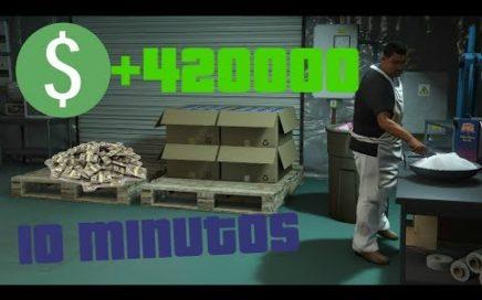 GTA 5 COMO HACER DINERO RAPIDO - $420000 EN 10 MINUTOS -  (FAST MONEY)