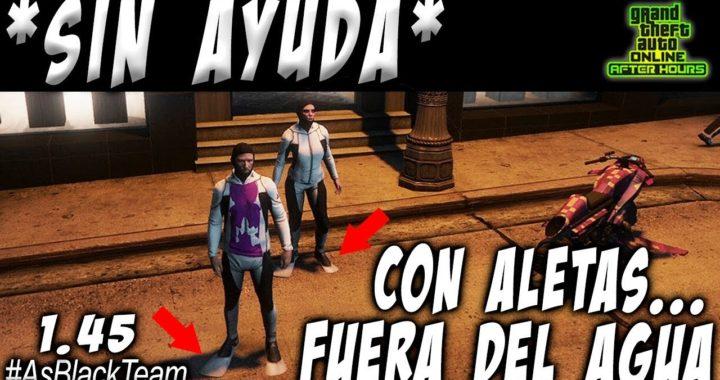   NEW - NUEVO   - SOLO - SIN AYUDA - GTA V -   CON ALETAS y FUERA DEL AGUA   - (PS4 - XBOX One - PC)