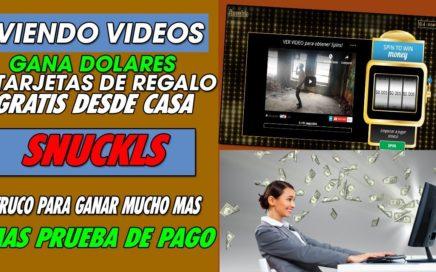 SNUCKLS| GANA DINERO  Y GIFT CARD COMPLETAMENTE GRATIS FACIL Y RAPIDO + TRUCO PARA GANAR MAS