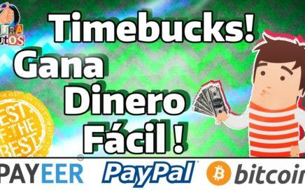 TimeBucks | La Mejor Página que paga por Paypal | Gana Dinero Fácil por Internet