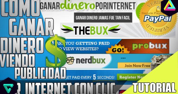TOP-7 Mejores Paginas|Como Ganar Dinero Por Internet Viendo Publicidad|JorgeTutoriales