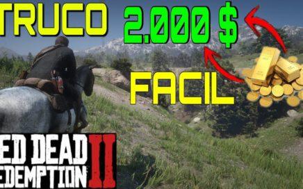 TRUCO DE DINERO EN RDR2 FACIL! | TRUCOS de CONSEGUIR DINERO 2000$ EN RED DEAD REDEMPTION 2 #2 | RDR2
