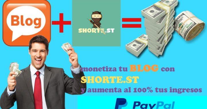 Como ganar Dinero GRATIS Con Shorte st en automatico PayPal account
