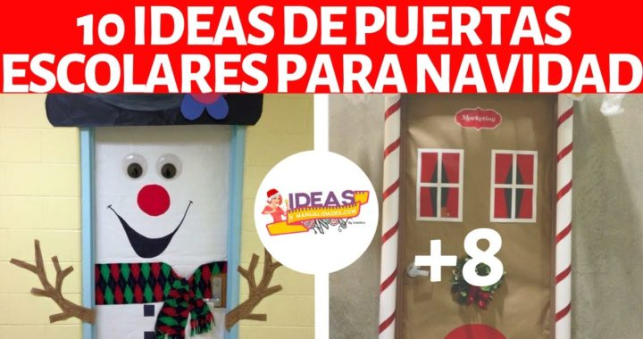 Ideas Para Decorar Puertas En Navidad.10 Ideas Para Decorar Puertas Escolares En Navidad